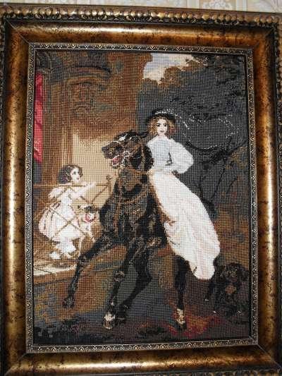Всадница картина брюллова вышивка крестом 22